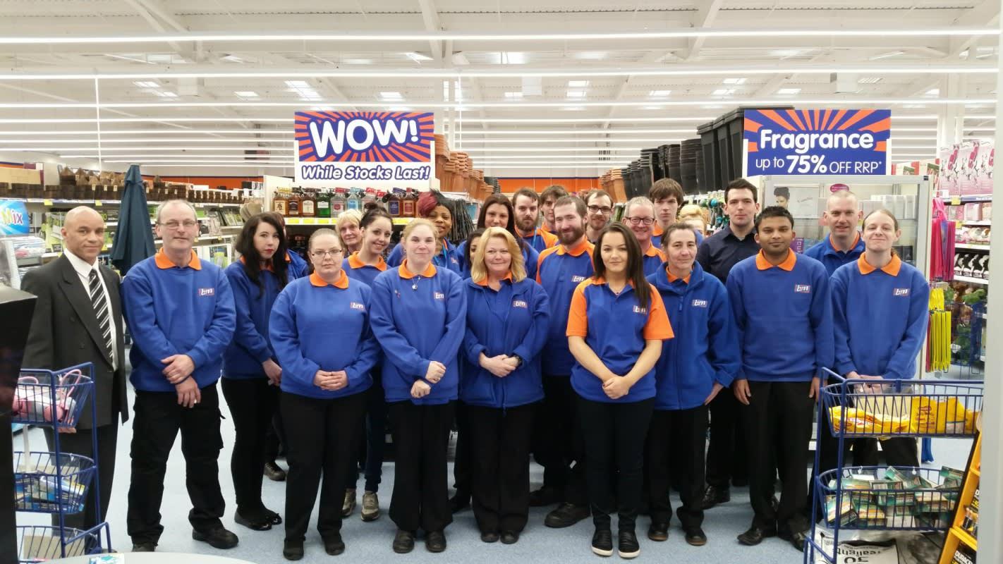 M Bel b m lifestyle shoppers in swinton flock to bigger better b m