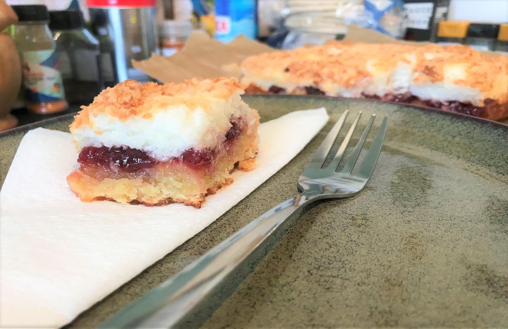 Super Sweet Raspberry & Coconut Meringue Summer Slices