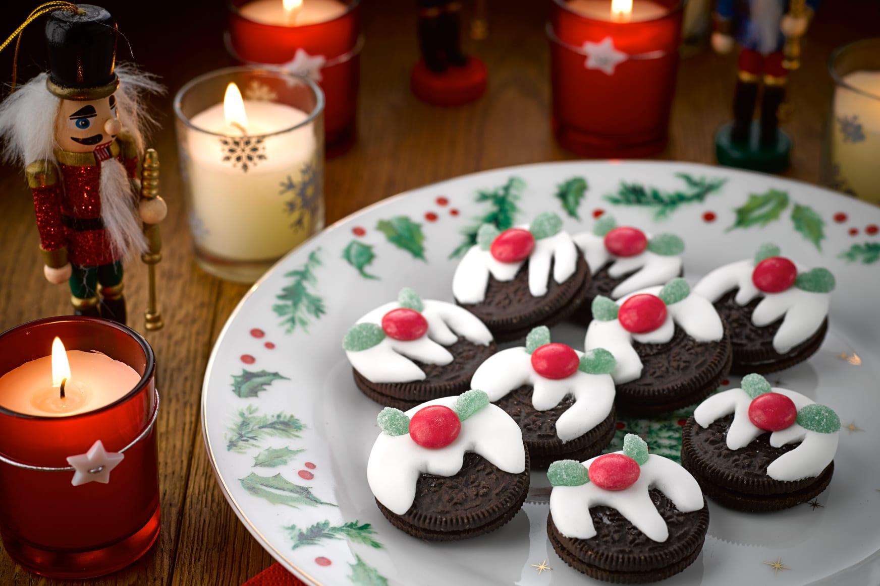 Oreo Christmas Pudding Cookies