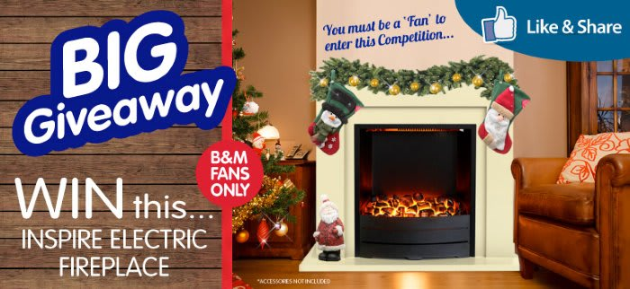 2014-11-13 Facebook Giveaway - Inspire Electric Fireplace