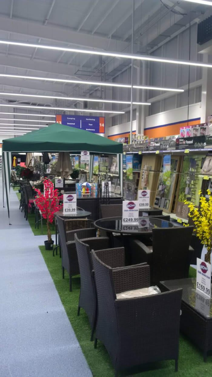 Charmant The Range Of Garden Products On Display In Bu0026M Westwood