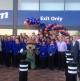 Store staff pose at the opening ceremony of the new Catterick store on Gough Road.