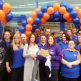 Nicky Fox accepted £250 worth of B&M vouchers on behalf of Forget Me Not Children's Hospice, as a thank you for opening the new Brighouse store.