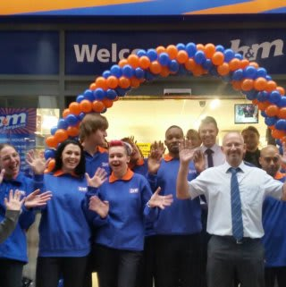 Store staff at the new Orpington store celebrating the opening day.