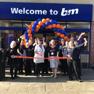 Store staff at B&M's new store in Rothwell were delighted to welcome Sue Mitchell from Rothwell Food Bank, the store's chosen charity for opening day. The Mrs Mitchell received £250 worth of B&M vouchers on behalf of the charity, a thank you for the hard work it does in the community.