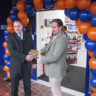 Driffield store opening with the Mayor of Driffield Mr Matt Rogers.