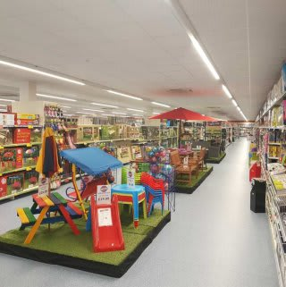 A first glimpse inside the new B&M Astle Park Bargains Store on opening day.