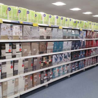 A first glimpse inside the large bedding range at B&M Braintree