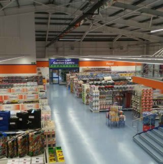 A first glimpse inside B&M Cardigan before it officially opens on opening day.