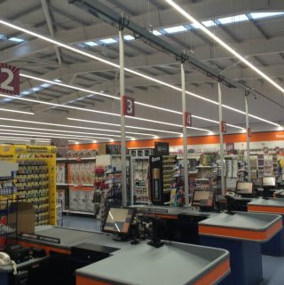 The interior of the brand new B&M Port Glasgow before the doors were officially opened.