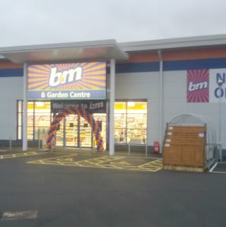 The brand new B&M Bodmin store on opening day.