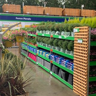 B&M's brand new store in Huntingdon boasts an extensive Garden Centre range; everything from fencing and aggregate, to planters and sheds.