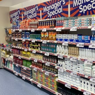 You'll find the full selection of this month's Managers Specials at B&M's brand new store in Huntingdon.