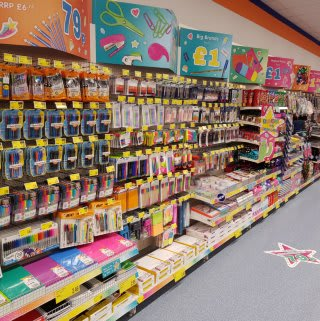 B&M's Back to School range is bursting with amazing school stationery in our new Crescent Link, Londonderry store.