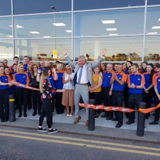 Sharon from local charity the Lisa Orsi Foundation cut the ribbon to officially open B&M's latest store at Crescent Link Retail Park, Londonderry.