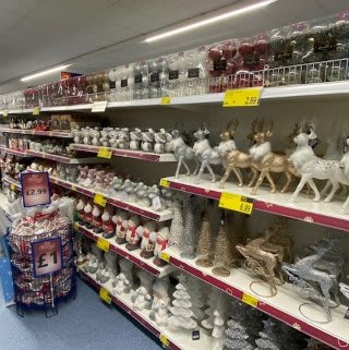 B&M's brand new store in Hednesford stocks a beautiful Christmas range, everything from decorations, lights and Christmas trees, to gift bags wrapping paper, selection boxes and much more!