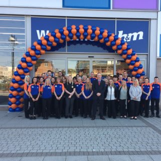 The store team at B&M South Shields celebrate the reopening of their store after a successful re-location.