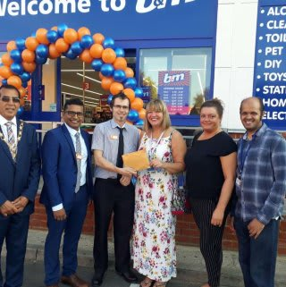 Store staff at B&M's new store in Ilford were delighted to welcome Rachel Low from local charity, Uniting Friends, the store's chosen charity for opening day. The charity received £250 worth of B&M vouchers in appreciation of their dedication and hard work in the community.