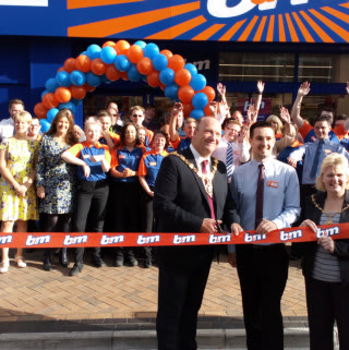 Local Mayor, Cllr Gary Coleman opened B&M's new store on Church Street, Blackpool having moved from Bank Hey Street.