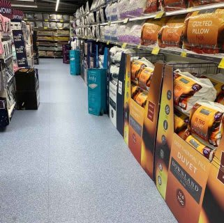 B&M's brand new store in Market Drayton stocks a charming range of bedding, including duvet covers, complete bed sets, pillow cases, mattress protectors and much more!