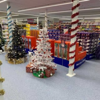 B&M's brand new store in Market Drayton stocks a beautiful Christmas range, everything from decorations, lights and Christmas trees, to gift bags wrapping paper, selection boxes and much more!