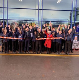The store team is ready and the ribbon's been cut! B&M is open for business in Market Drayton! You'll find B&M's newly refurbished store located in the town centre on Towers Lane.