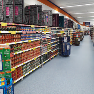 B&M Darlington on Northgate stocks a variety of big brand, discounted goods; from grocery and toys to furniture and electricals.