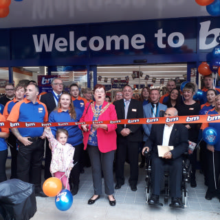 Local Mayor, Cllr Veronica Copeland cuts the ribbon at B&M's newest store opening in Darlington on Thursday.
