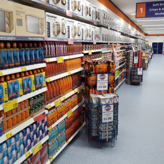B&M's new store in Darlington - Northgate stocks an extensive range of discounted goods, included big brand soft drinks like Coca-Cola, Lucozade and much more.