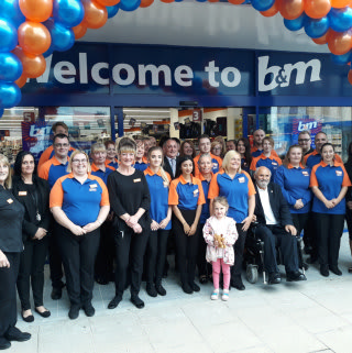 The store team at B&M Darlington - Northgate can't wait to get the doors open and welcome the store's first customers.
