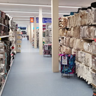 B&M's newest store in Telford stocks a huge range of soft furnishings for the home, from rugs and cushions to throws and curtains.