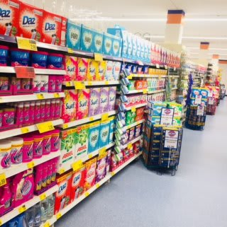 Browse our great range of cleaning and laundry products, at B&M's new store in Ballynahinch, County Down.