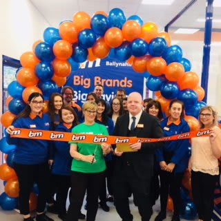B&M's latest new store in Ballynahinch, County Down was opened with the help of representatives from the local branch of Macmillan Cancer Support. They received £250 worth of B&M vouchers as a thank you for taking part.
