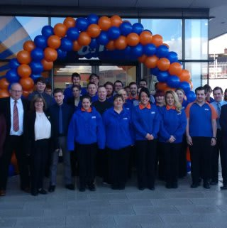 The new store colleagues at B&M Westwood, eager to start on its opening day.