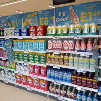 B&M's brand new store in Sheldon stocks a huge range of cleaning products, from he biggest brands like Daz, Ariel, Comfort, Fairy and many more.