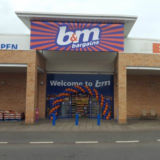 Airdrie's new and improved B&M Bargains store, Airdrie Retail Park which has been expanded