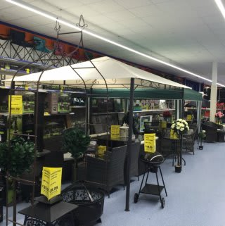 A first glimpse at the B&M's new garden and outdoor ranges in-store at the Airdrie Retail Park store