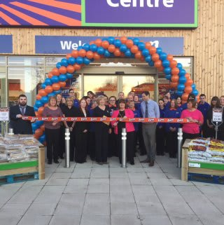 B&M Stenhousemuir was opened by Local Deputy Provost Ann Richie.