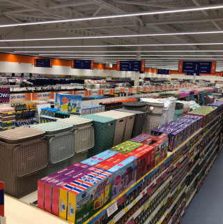 A first glimpse of B&M's new store in Glasgow (Auchinlea Way).