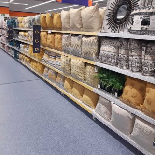 B&M's brand new store in Warrington stocks a charming range of home decor, including cushions, throws and much more.