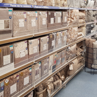 B&M's Shrewsbury store has plenty to offer customers, including beautiful home decor and soft furnishings in a range of styles and colours.