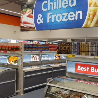 B&M's Shrewsbury store benefits from our new fresh and frozen range of food, so you can do all your grocery shopping in one place.