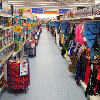 B&M's Shrewsbury store has plenty to offer customers, including a spooky selection of Halloween costumes and kids toys.