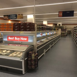 Frozen goods in B&M's newly refurbished store at Ringway in Preston.