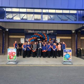 The store team at B&M Ringway in Preston celebrate the re-opening of their store on Carlisle Street after it temporarily closed for refurbishment works.