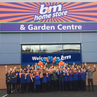 B&M Chadderton's store team can't hide their excitement to finally open their doors to their first customers.
