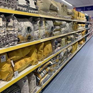 B&M's brand new store in Hunslet stocks a stunning range of soft home furnishings, including cushions, throws and much more in a range of colours and the latest trends.