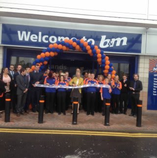 B&M's new Bristol store is opened by Lord Mayor Councillor Clare Champion-Smith and representatives from St Peter's Hospice
