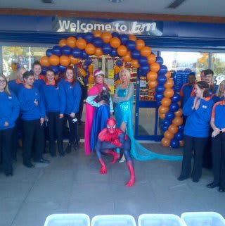 Farlington store opening with Disney's Frozen Elsa and Anna and Spiderman!