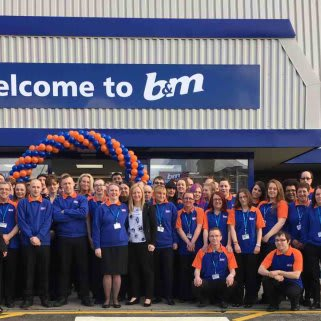 The brand new store colleagues at B&M Crostons on opening day